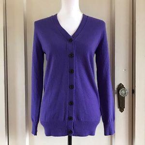J. CREW - Periwinkle Cashmere Cardigan Sweater XS